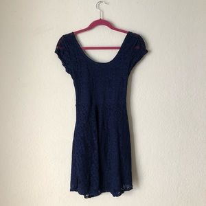 Wet Seal Blue lace dress